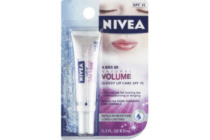 Nivea Lip Care A Kiss of Natural Volume Glossy - SPF 15