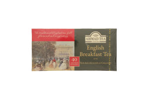 Чай черный English Breakfast Ahmad Tea к/у 40х2г