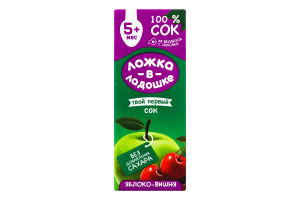 Сок для детей от 5мес Яблоко-вишня Ложка в ладошке т/п 200мл
