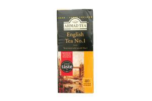 Чай черный с ароматом бергамота English №1 Ahmad Tea к/у 40х2г