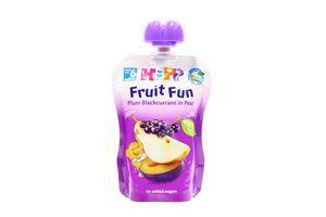 Пюре для детей от 6мес Груша-Слива-Смородина Fruit Fun Hipp туб 90г