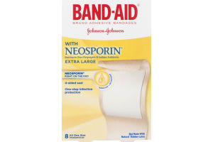 Band-Aid Adhesive Bandages With Neosporin Extra Large - 8 CT
