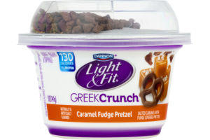 Dannon Light U0026 Fit Greek Crunch Nonfat Yogurt Caramel Fudge Pretzel