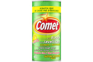 (CN) Comet Avec Javellisant Nettoyant Fraicheur Citron, Comet With Bleach Cleanser Lemon Fresh