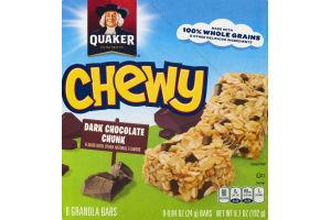 Quaker Chewy Dark Chocolate Chunk Granola Bars - 8 CT