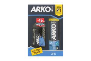 Подарунковий набір ARKO MEN Гель для гоління Cool 200мл + бальзам після гоління Cool 150мл зі знижкою 45%