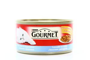 Корм з форелью и лососем Gourmet Perle 195г