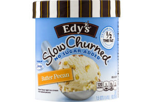 Edy's Slow Churned No Sugar Added Butter Pecan Light Ice Cream