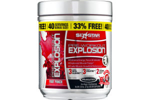 Six Star Pre-Workout Eplosion Fruit Punch