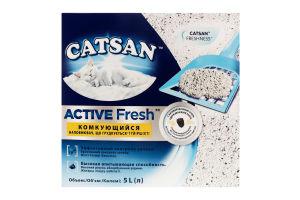 Наполнитель для кошачьего туалета Active Fresh Catsan 5л