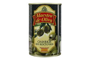 Оливки без кісточки Maestro de Oliva з/б 300г