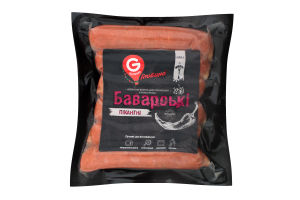 Ковбаски варені для смаження Баварські пікантні в/с в/п БЕЗ ГМО