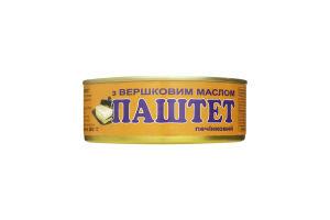 Паштет печеночный со сливочным маслом ОПК ж/б 240г