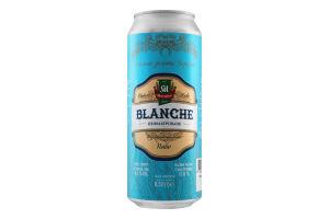 Пиво 0.5л 4.5% светлое живое нефильтрованное Blanche Микулин Микулинецьке ж/б