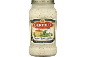 Bertolli Sauce Creamy Basil Alfredo with Aged Parmesan Cheese
