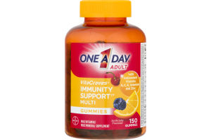 One A Day Adult VitaCraves Multivitamin Gummies Immunity Support - 150 CT