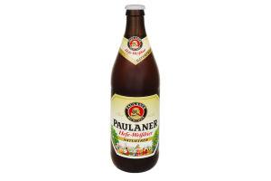 Пиво 0.5л 5.5% светлое нефильтрованное Paulaner Hefe-Weissbier бут
