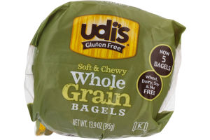 Udi's Gluten Free Whole Grain Bagels - 5 CT