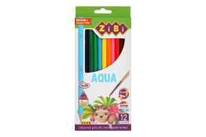 Карандаши цветные №ZB.2475 Kids Line Aqua ZiBi 12шт