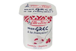 Десерт молочный с малиной Mon Grec Elle&Vire ст 125г