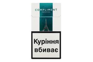 Сигареты с фильтром Compliment Super Slims Menthol 20шт