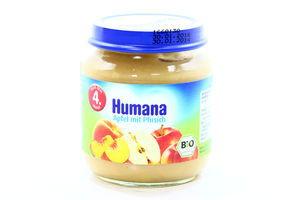 Пюре для детей от 4мес Яблоко-Персик Humana с/б 125г