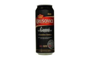 Пиво 0.5л 3.8% темное Krusovice Cerne ж/б