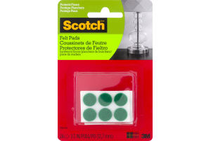 Scotch Felt Pads Green - 24 CT