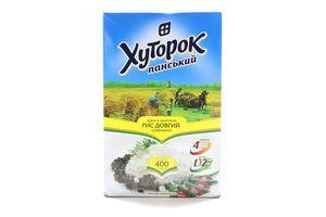 Рис длинный в пакетиках Хуторок Панський к/у 4х100г