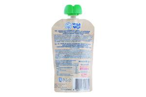 Пюре для дітей від 6міс з кашею вівсяною Яблуко-персик Чудо-чадо д/п 90г