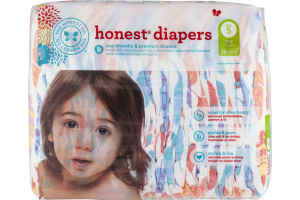 The Honest Co. Honest Diapers Painted Feathers Size 5 - 25 CT