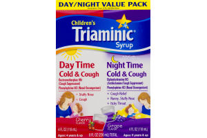 Children's Triaminic Syrup Day/Night Value Pack Cherry and Grape Flavors - 2 PK