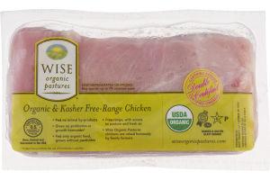 Wise Organic & Kosher Free-Range Chicken Boneless Breast Fillets