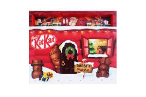 Шоколад 25% молочний з начинкою Різдвяний календар Kit Kat к/у 195г