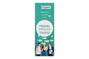 Карточки для изучения английских слов Travel English English Student 1шт