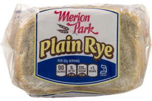 Merion Park Plain Rye Bread