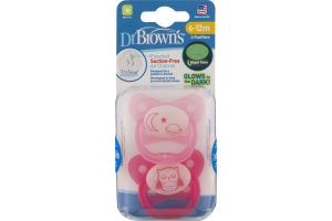 Dr. Brown's Suction-Free Air Channel Pacifiers 6-12m - 2 CT