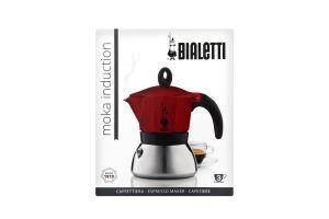 Кофеварка Bialetti MokaInduct гейз крас 3чаш 0.18л