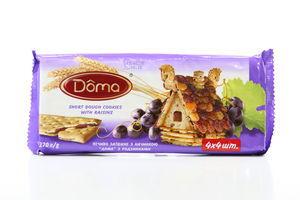 Печенье затяжное с изюмом Doma 270г