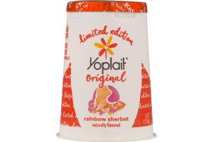 Yoplait Original Low Fat Yogurt Rainbow Sherbet