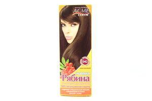 Крем-краска для волос Рябина Каштановый №042 Acme Color
