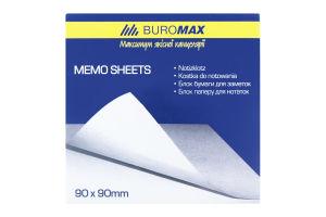 Блок паперу для нотаток білий 90х90х70мм №ВМ.2218 Jobmax Buromax 1шт