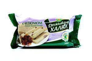 Халва Дружковка з родзинками 200г х20