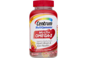 Centrum MultiGummies Multi + Omega-3 Heart, Brain & Eye Health - 100 CT