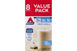 Atkins French Vanilla Shake - 8 CT