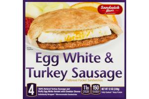 Sandwich Bros. of Wisconsin Flatbread Pocket Sandwiches Egg White & Turkey Sausage - 4 CT