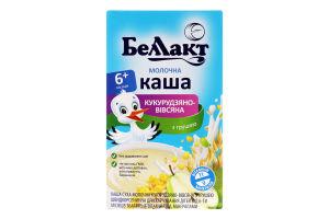 Каша молочна кукурудзяно-вівсяна з грушею для дітей від 6міс Беллакт к/у 200г