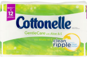 Cottonelle Toilet Paper Gentle Care with Aloe & E - 6 CT