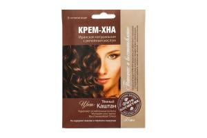 Крем-хна Fitokoсмeтиk Темний каштан з реп.олією 50мл х6