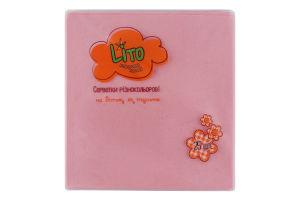 Салфетки бумажные 2-слойные розовые 330х330мм Lito 25шт
